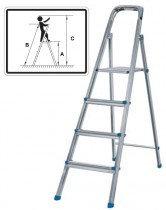 Лестница-стремянка стальная, 8 ступени,  вес 10,3 кг 65336