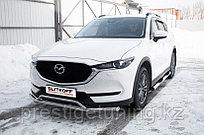 Защита переднего бампера d57+d32 двойная Mazda CX-5 2017-