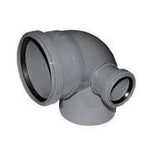 Отвод канализационный 110х90гр с правым выходом 50 ПП