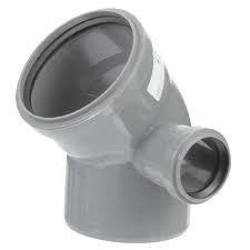 Отвод (полуотвод) канализационный 110х45гр с правым выходом 50 ПП