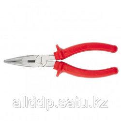 Длинногубцы Econom 160 мм изогнутые шлифованные пластмассовые рукоятки MATRIX 17494 (002)