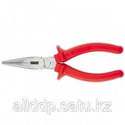 Длинногубцы Econom 160 мм прямые шлифованные пластмассовые рукоятки MATRIX 17192 (002)