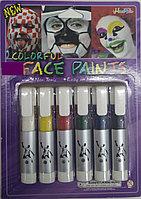 Краски для лица, аквагрим для детей и взрослых, 6 цветов