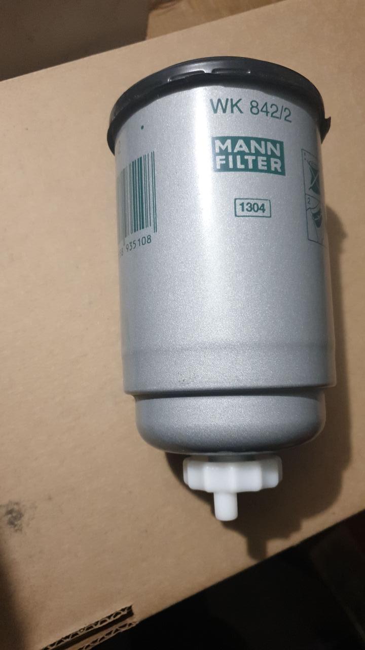 D81/H158(M16x1.5) MANN WK842/2 Топливный фильтр с сливом