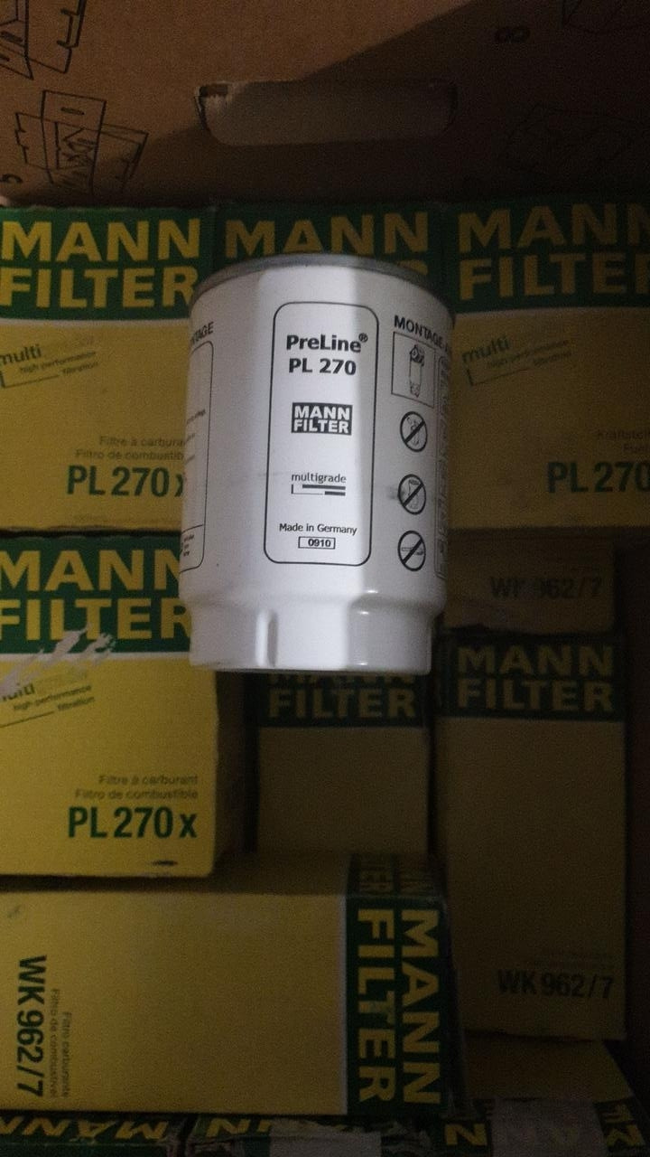 """D108/H150(1""""-14 UNS) MANN PL270 x Топливный фильтр грубой очистки FILTRON PP 967/2"""
