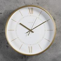 Часы настенные, серия Интерьер 'Эдит' d30.5 см, золото