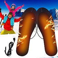 USB стельки с подогревом, зимние электрические стельки с подогревом для обуви