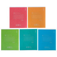 Тетрадь 18 листов линейка 'Школьная', картонная обложка, тиснение, МИКС (комплект из 20 шт.)