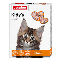 BEAPHAR Kitty*s Junior+Biotin, Беафар Джуниор, сердечки с биотином для котят, уп. 75 табл.