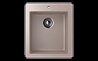 Мойка кухонная односекционная ECO Stone 495 х 420 мм квадратная с отверстие под смеситель