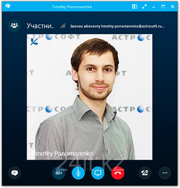 окно звонка skype for business
