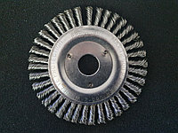 Щётка дисковая D 150 x 6 x 22,2 mm. Weiler Жгутовая стальная проволока 0,5mm