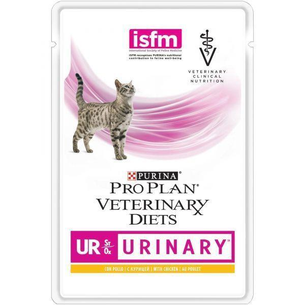 Корм Purina Pro Plan Veterinary diets для кошек, при болезнях мочевыводящих путей (Курица) - 85 г