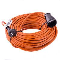 Удлинитель-шнур силовой, 20м, 1 розетка, 10A, серия УХ10 Denzel