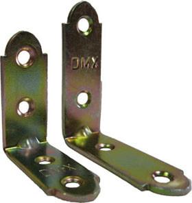 Уголок 50*50*17*2 мм узкий (R)KW 3/ Крепежный уголок мебельный 50*18 мм KUM-50x18