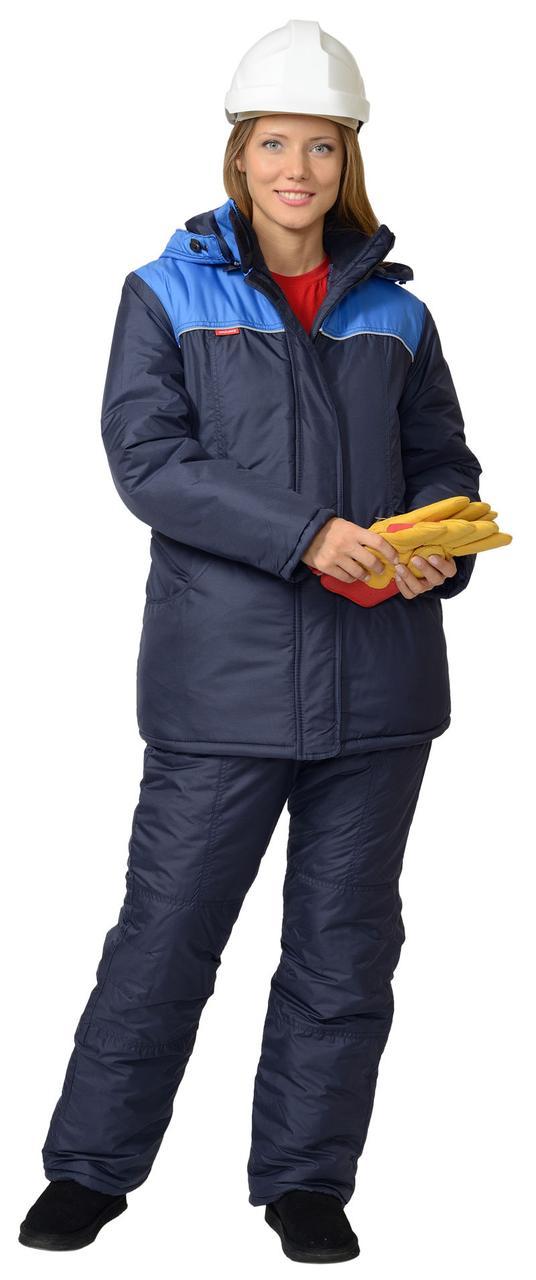"""Костюм """"Снежана"""" женский (куртка,п/к, синий с васильковым)"""