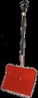 Лопата снеговая пластиковая №1 400х490 мм с алюминиевым черенком