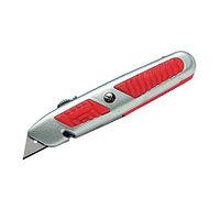 """Нож 18 мм с выдвижным трапецеидальным лезвием  с отделением для запасных лезвий """"МАТRIХ"""""""