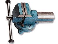 Тиски 100 мм слесарные, поворотные с наковальней SPARTA