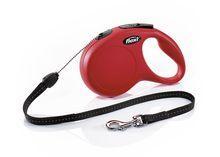 Tросовый поводок - рулетка Flexi New Classik для животных до 12 кг S (Красный) - 8 м