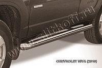 Защита порогов d76 труба Chevrolet Niva 2010-