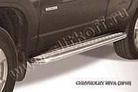 Защита порогов d57 с листом усиленная Chevrolet Niva 2010-