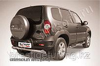 Защита заднего бампера d76 радиусная Chevrolet Niva 2010-