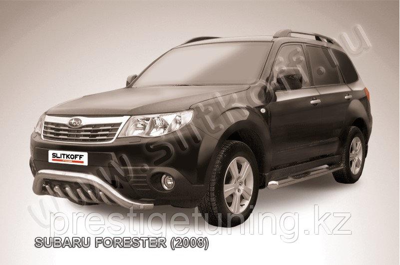 """Кенгурятник d76 """"мини"""" с защитой картера Subaru Forester 2008-12"""