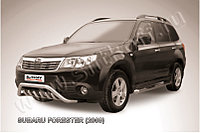 """Кенгурятник d57 """"мини"""" с защитой картера Subaru Forester 2008-12"""