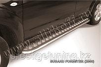 Защита порогов d42 с листом Subaru Forester 2008-12