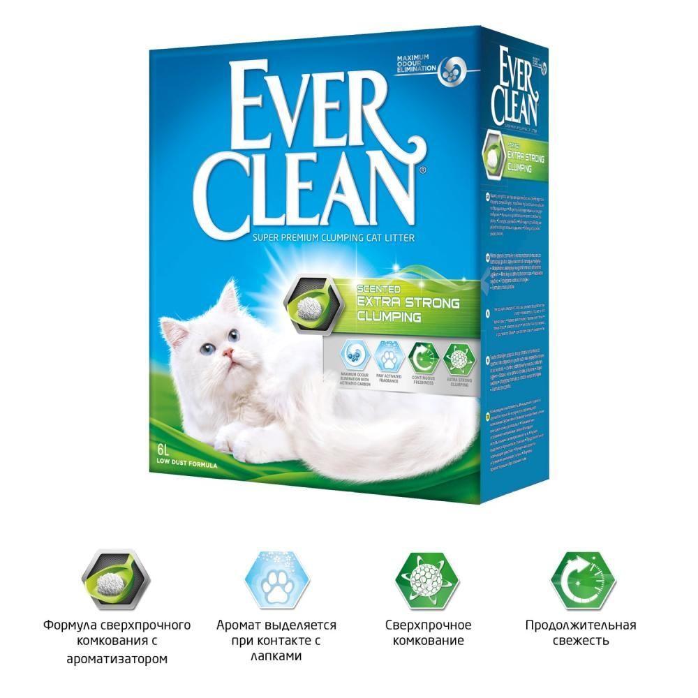 Комкующийся наполнитель Ever Clean Extra Strong Clumping Scented, сверхпрочное комкование - 6 л