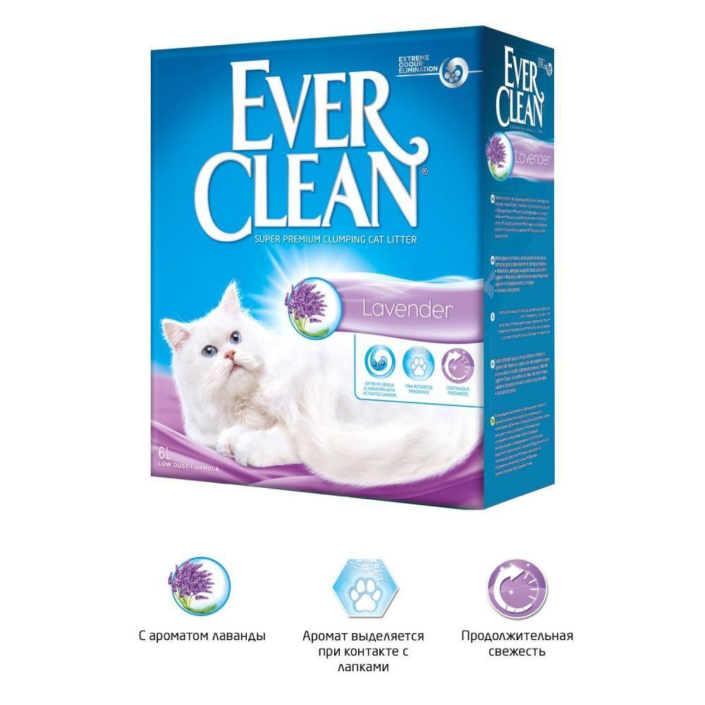 Комкующийся наполнитель Ever Clean Lavender, с ароматом лаванды - 6 л