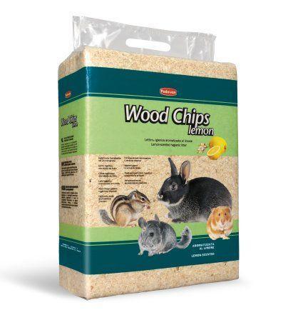 Наполнитель Padovan Wood Chips Lemon, древесные стружки с запахом лимона для грызунов, 1 кг. / 14 л.