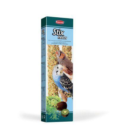 Палочки антистрессовые с травами Padovan Stix Herbs для попугаев и экзотичных птиц - 80 г