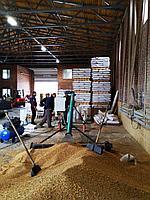 Передвижной наклонный  фасовочный станок сыпучих материалов