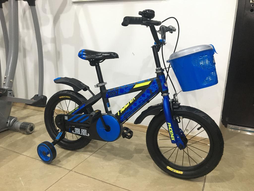 Велосипед Phoenix на 3-4 года с холостым ходом рама 14 (цвет-синий) - фото 2