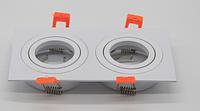 Точечный светильник 2ной квадратный с поворотным механизмом