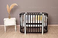 NU Кроватка детская Incanto Nuvola 3 в 1 без маятника цвет венге/слоновая кость, фото 1