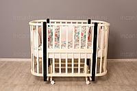 NU Кроватка детская Incanto Nuvola 3 в 1 с маятником цвет слоновая кость/венге, фото 1