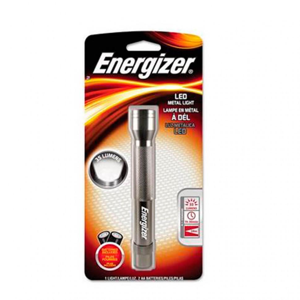 Фонарь компактный Energizer Metal light 3xААА черный.