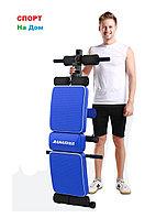 Фитнес скамья для пресса Jianuo до 120 кг с эспандерами