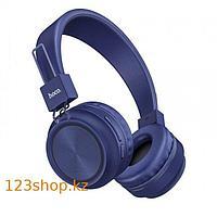 Bluetooth наушники Hoco W25 Promise Blue, фото 1
