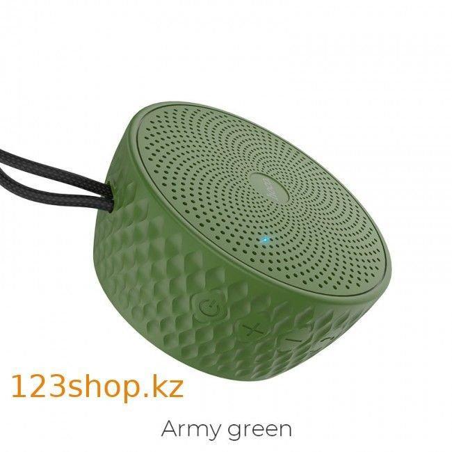 Портативная колонка Hoco BS21 Atom Army Green - фото 1