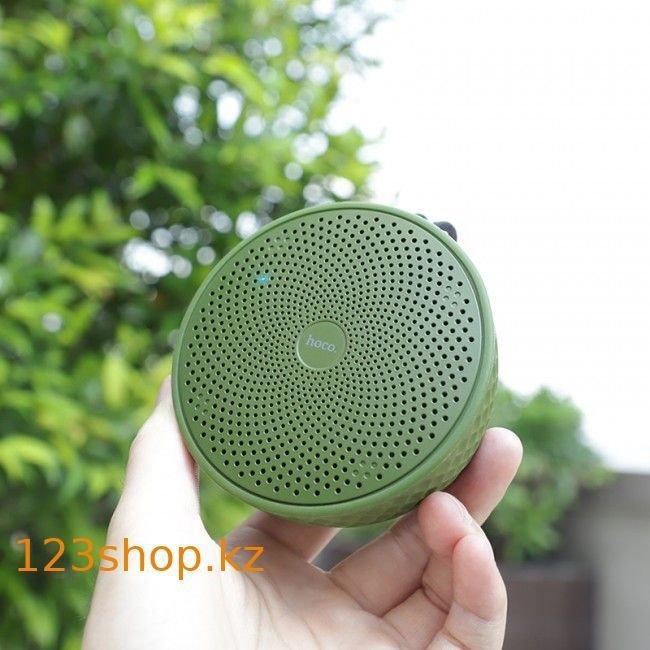 Портативная колонка Hoco BS21 Atom Army Green - фото 3