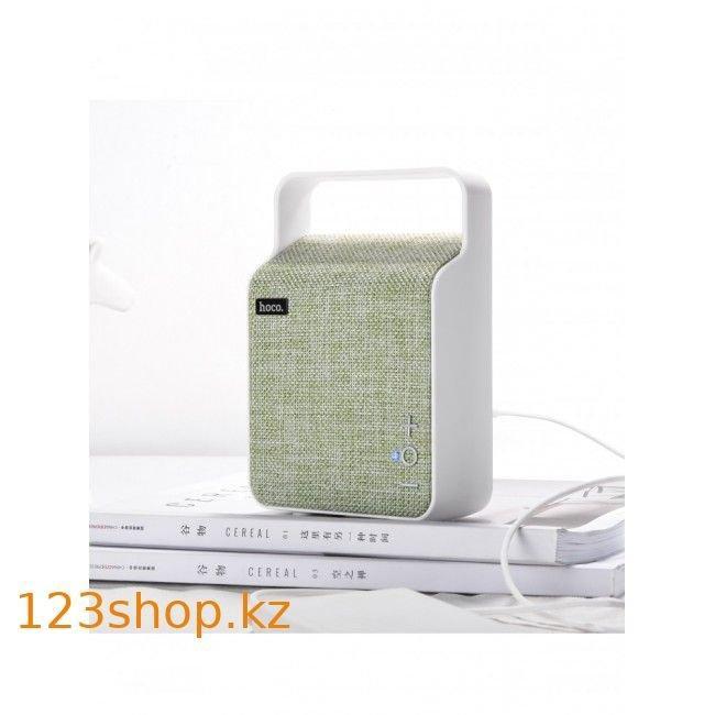 Портативная колонка Hoco BS6 NuoBu desktop Bluetooth speaker Green - фото 2