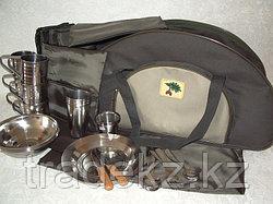 Набор туристической посуды, сумка пикник на 6 персон, нержавеющая сталь