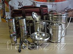 Набор туристической посуды, сумка Турист 6 персон, нержавеющая сталь