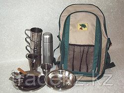 Набор туристической посуды, рюкзак-сумка на 4 персоны с термосом