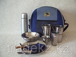 Набор туристической посуды, кейс на 4 персоны с термосом