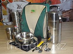 Набор туристической посуды, портфель на 4 персоны с контейнером